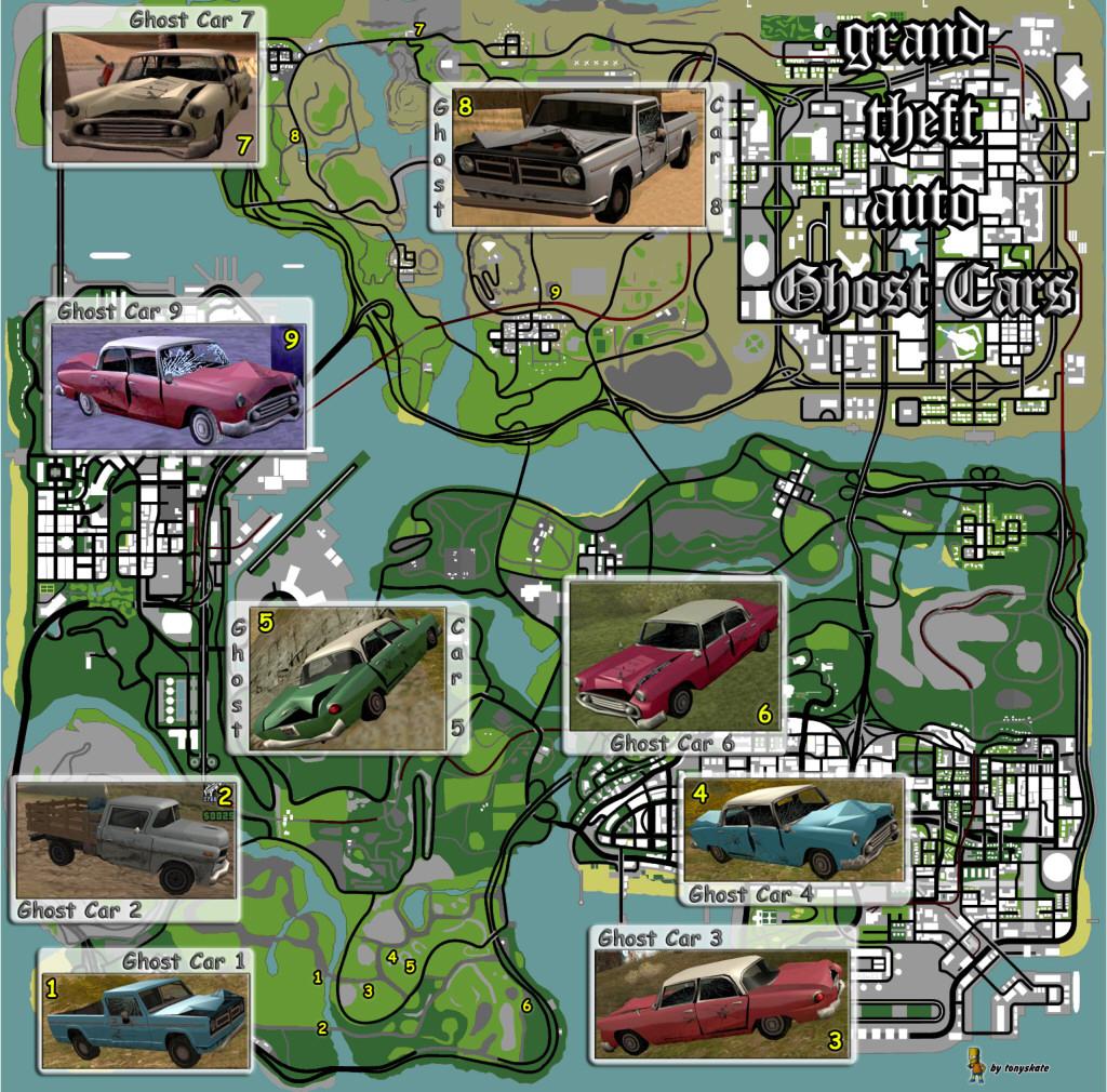 GTA San Andreas Car Map