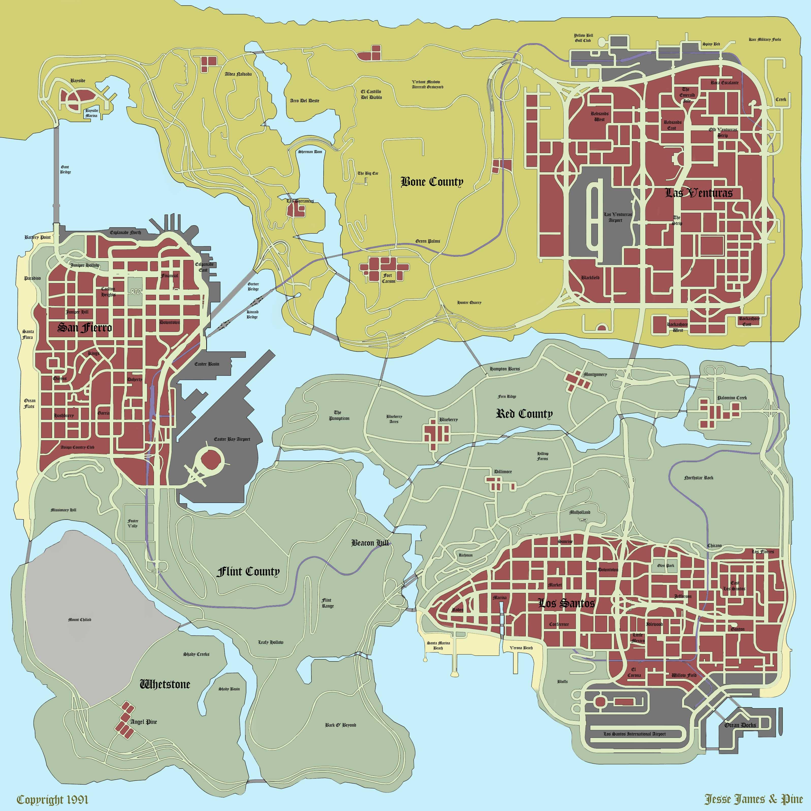 Maps - GTA SA / Grand Theft Auto: San Andreas - on Gta cz