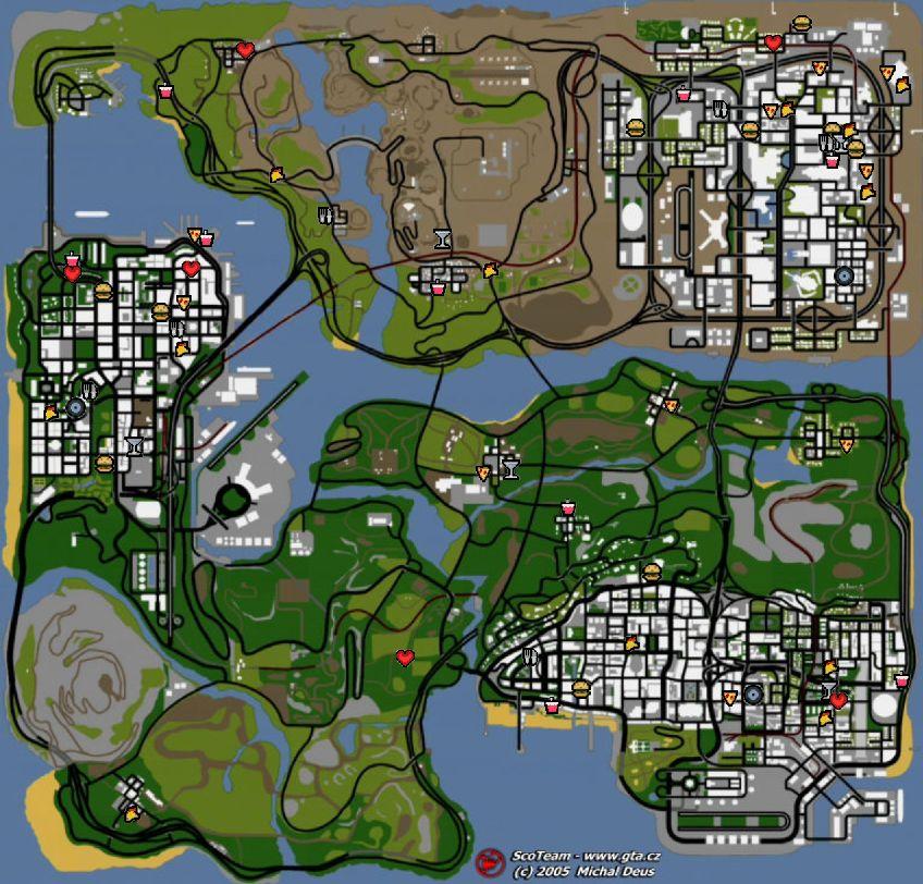 GTA SA  Grand Theft Auto San Andreas  Maps  on GTACZ