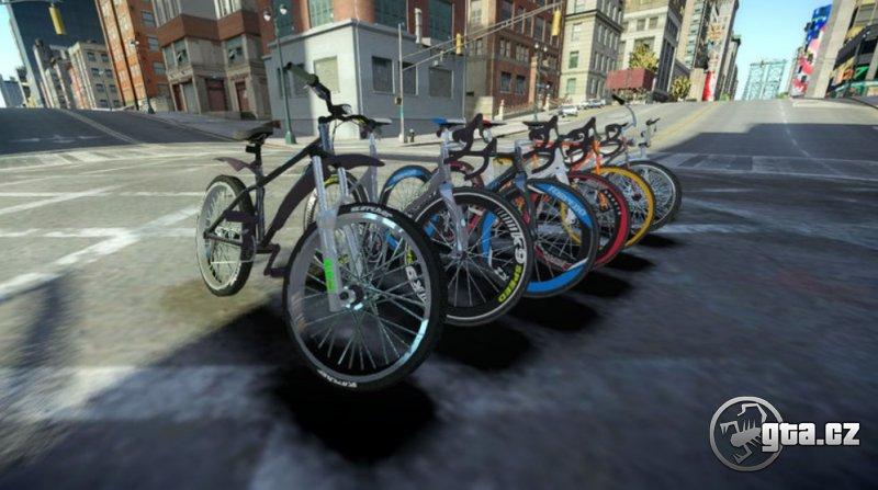 Pack všetkých modelov bicyklov z GTA V