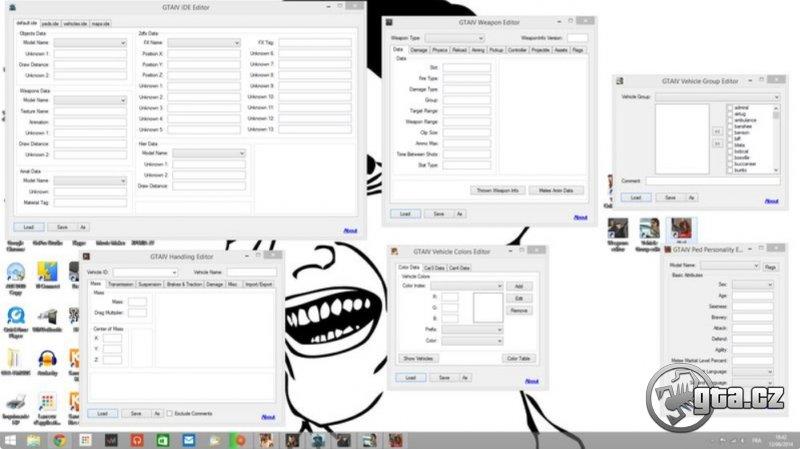 Pack programov kombinujúci editor handlingu, farieb a skupín vozidiel, IDE súborov, zbraní a chodcov
