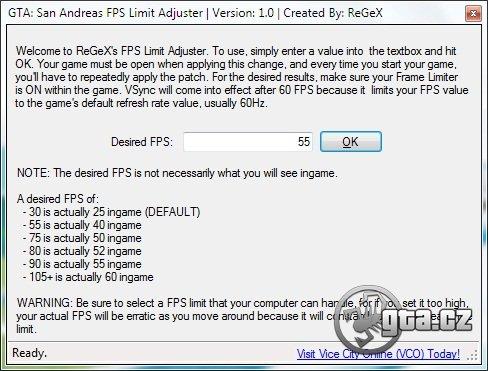 Zvyšuje počet rámčekov (FPS) v hre. Pre správne použitie si prečítajte readme.