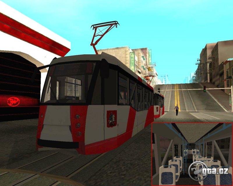 Moderní nízkopodlažní tramvaj