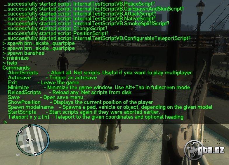Script Hook, ktorý vám umožní načítavať .vb, .cs, .net a .net.dll scripty v hre s patchom 1.1.2.0