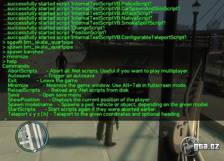 Script Hook, ktorý vám umožní načítavať .vb, .cs, .net a .net.dll scripty v hre s patchom 1.0.6.0 a v EFLC s patchom 1.1.0.0