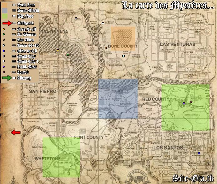 Mysteries - GTA SA / Grand Theft Auto: San Andreas - on Gta cz