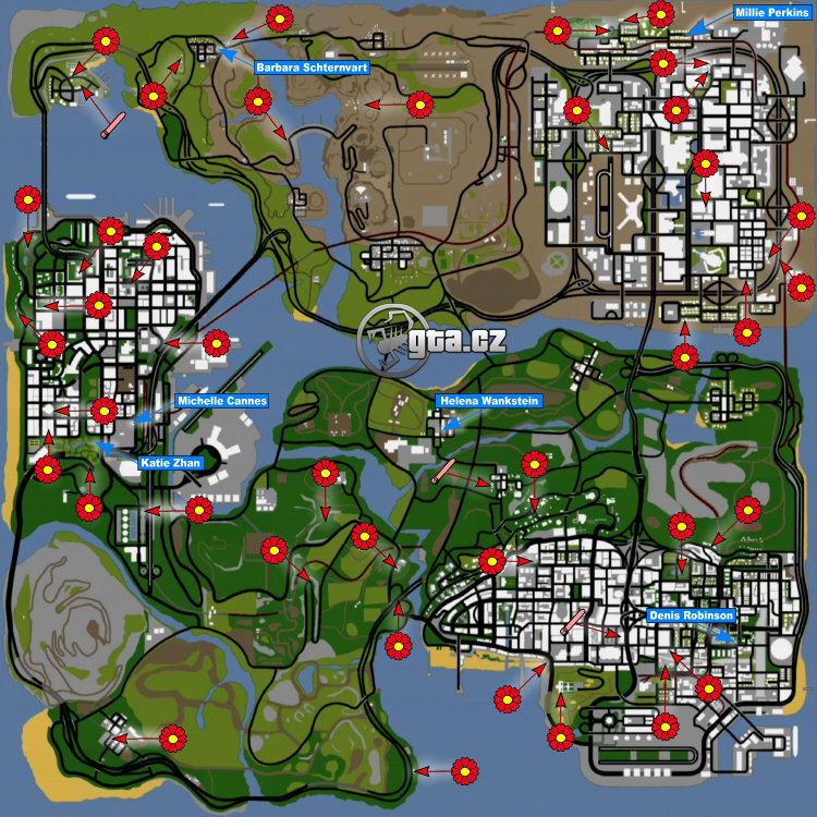 Gta sa girlfriend locations