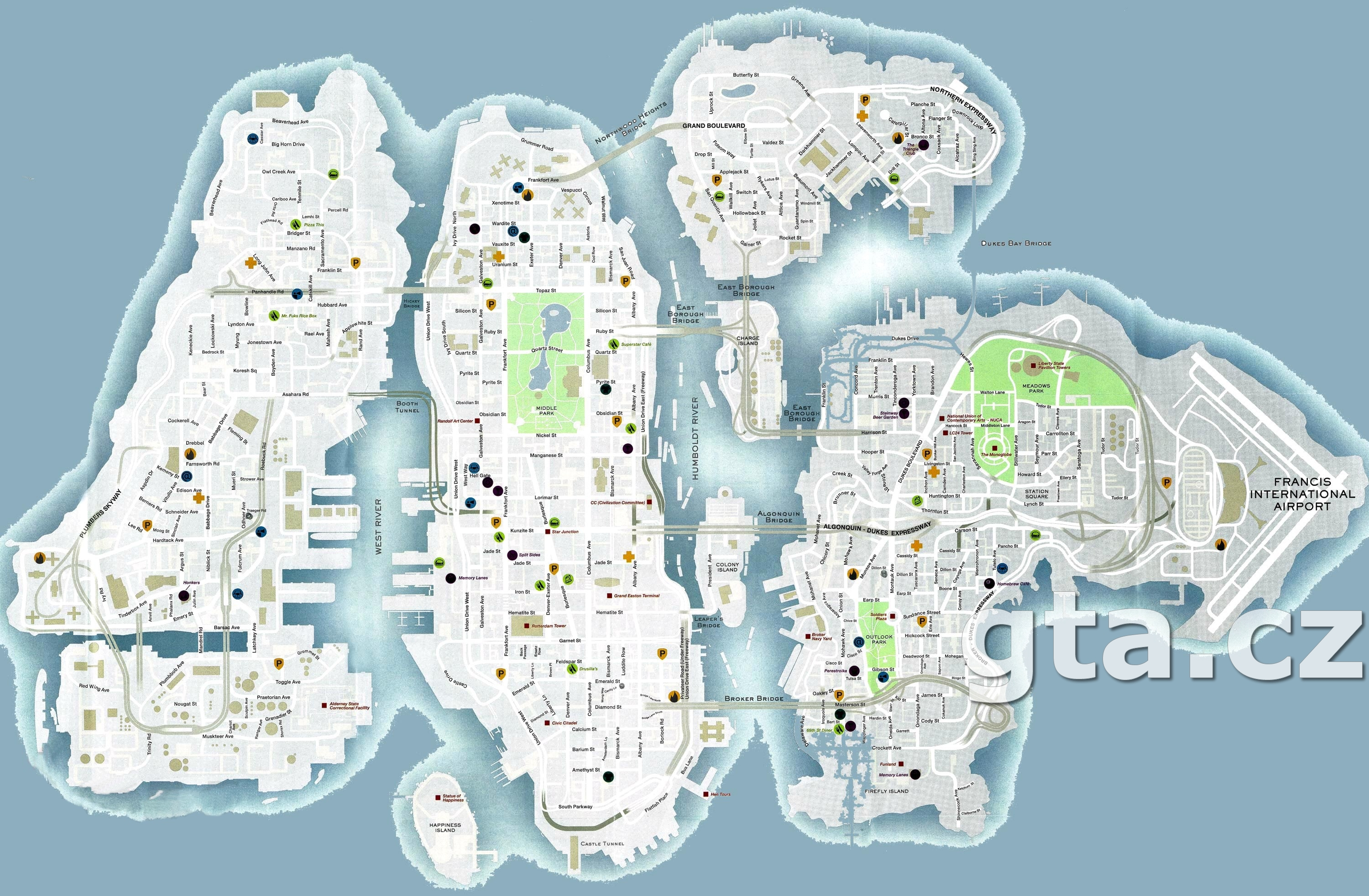 Maps Gta 4 Grand Theft Auto Iv On Gtacz