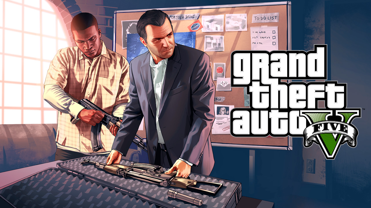 gta v new artworks gta v grand theft auto 5 on. Black Bedroom Furniture Sets. Home Design Ideas