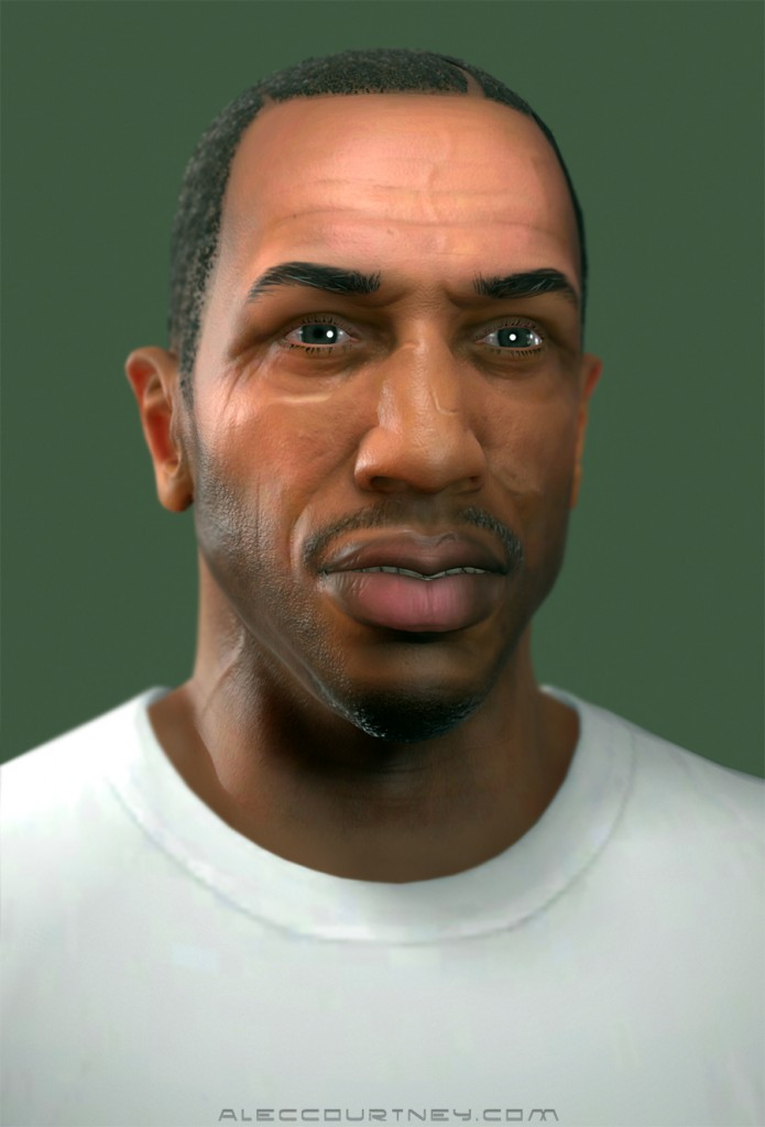 cj from san andreas in gta 5 game gta v grand theft auto 5 on