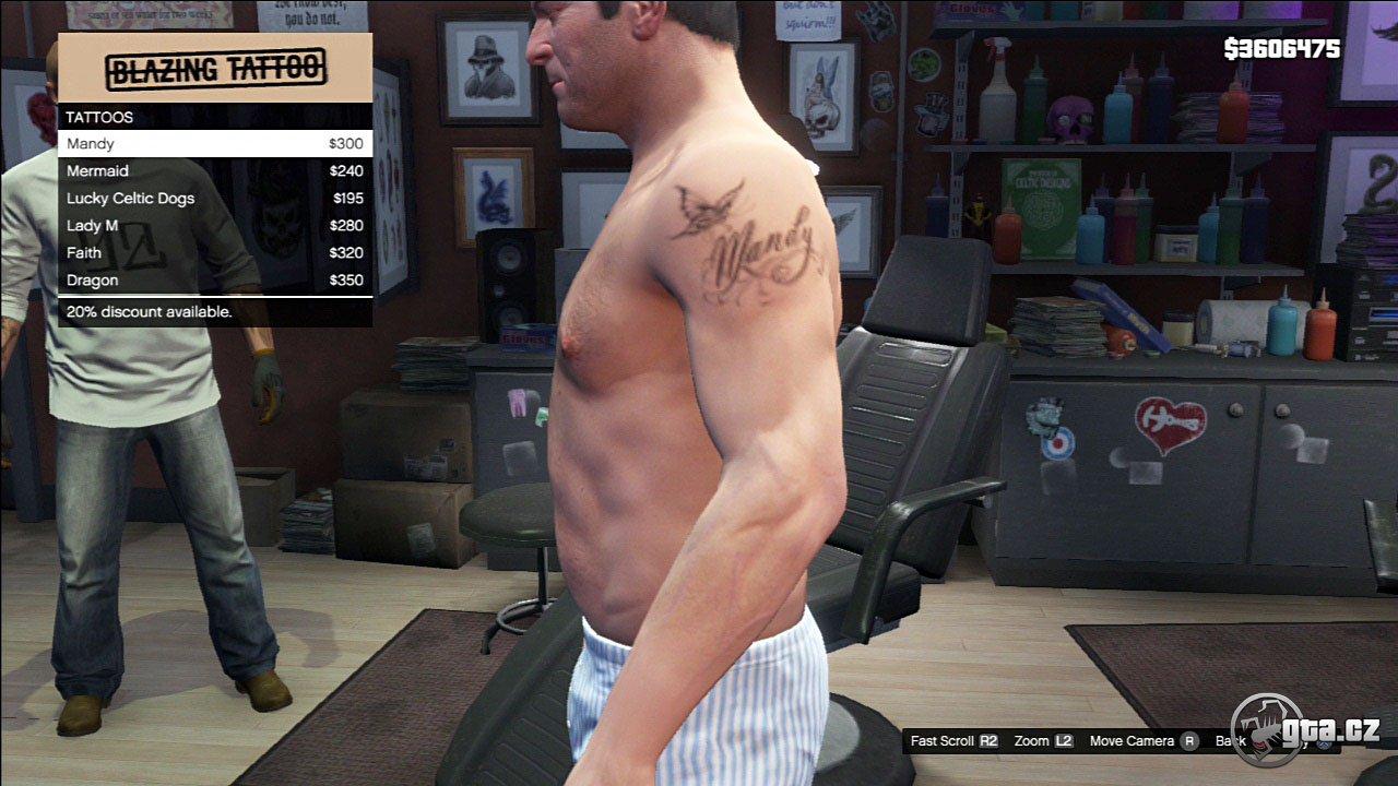 Tattoo - Michael - GTA V / Grand Theft Auto 5 - on Gta cz