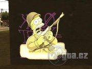 Zamení pôvodnú textúru graffiti za výjavy zo seriálu Simpsonovci