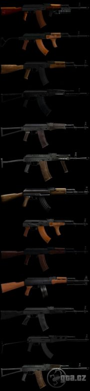 13 different models of AK
