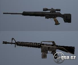 Weapons from beta version of SA