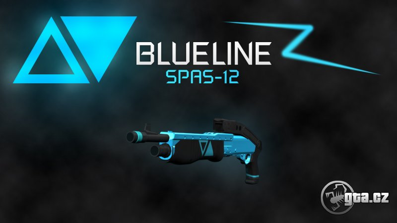 Pack of weapons in blue-black colour