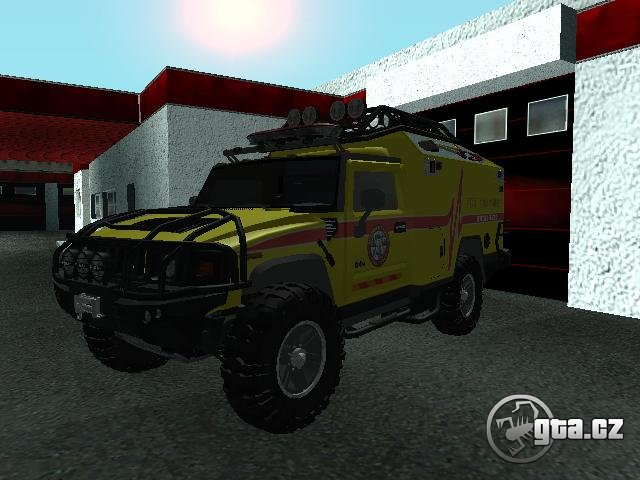 Rescue vehicle to the mountainous terrain