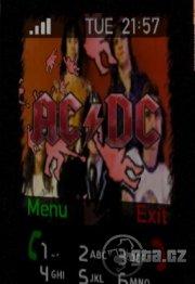 Téma do mobilu pro příznivce metal. skupiny AC/DC.