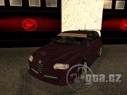 Alfa Romeo 147 se sportovním podvozkem a neonovým podsvícením vypadá stylově.