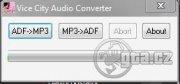 Toto je program ktorý vám umožní konvertovať vaše  MP3  na  ADF format a ADF na MP3 (len na osvieženie pameťi v ADF su rádiá vo VC)