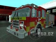 Originál britské hasičské vozidlo
