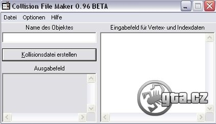 A program for creation of a COL file. A version 0.96 BETA.