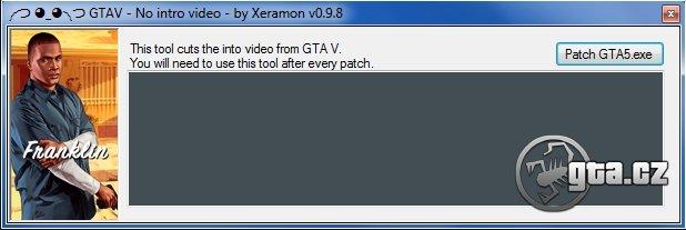 Program odstraní intro ze hry. Je nutné aplikovat po každém opravném patchi.