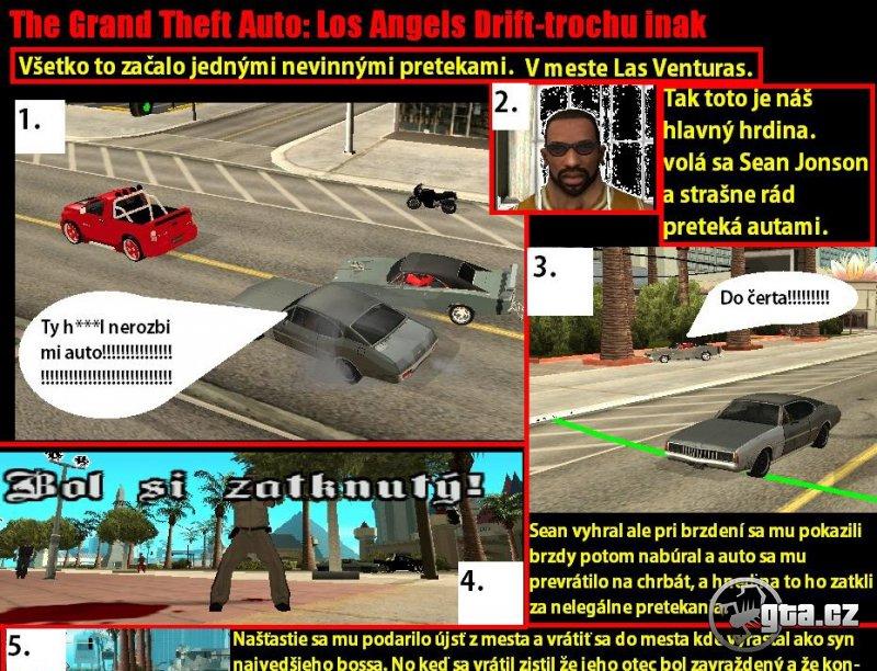 Závody aut v Los Angeles