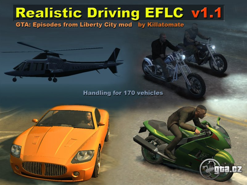 Realistic driving and flying for EFLC
