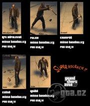 Pack obsahuje: RPG odpalovač, palici, krumpáč, koště a hrábě!