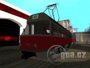 Velice známá tramvaj, má i přístupný interiér.