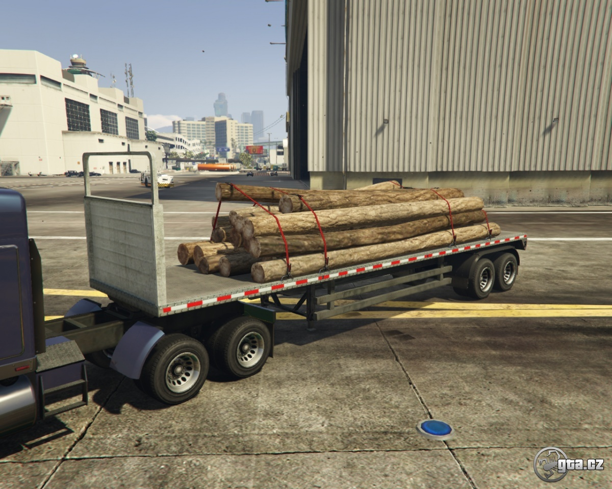 trailer log trailer gta v grand theft auto 5 on. Black Bedroom Furniture Sets. Home Design Ideas