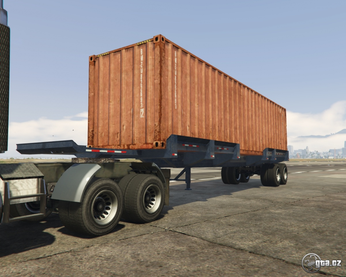 trailer extended container traile gta v grand theft auto 5 on. Black Bedroom Furniture Sets. Home Design Ideas