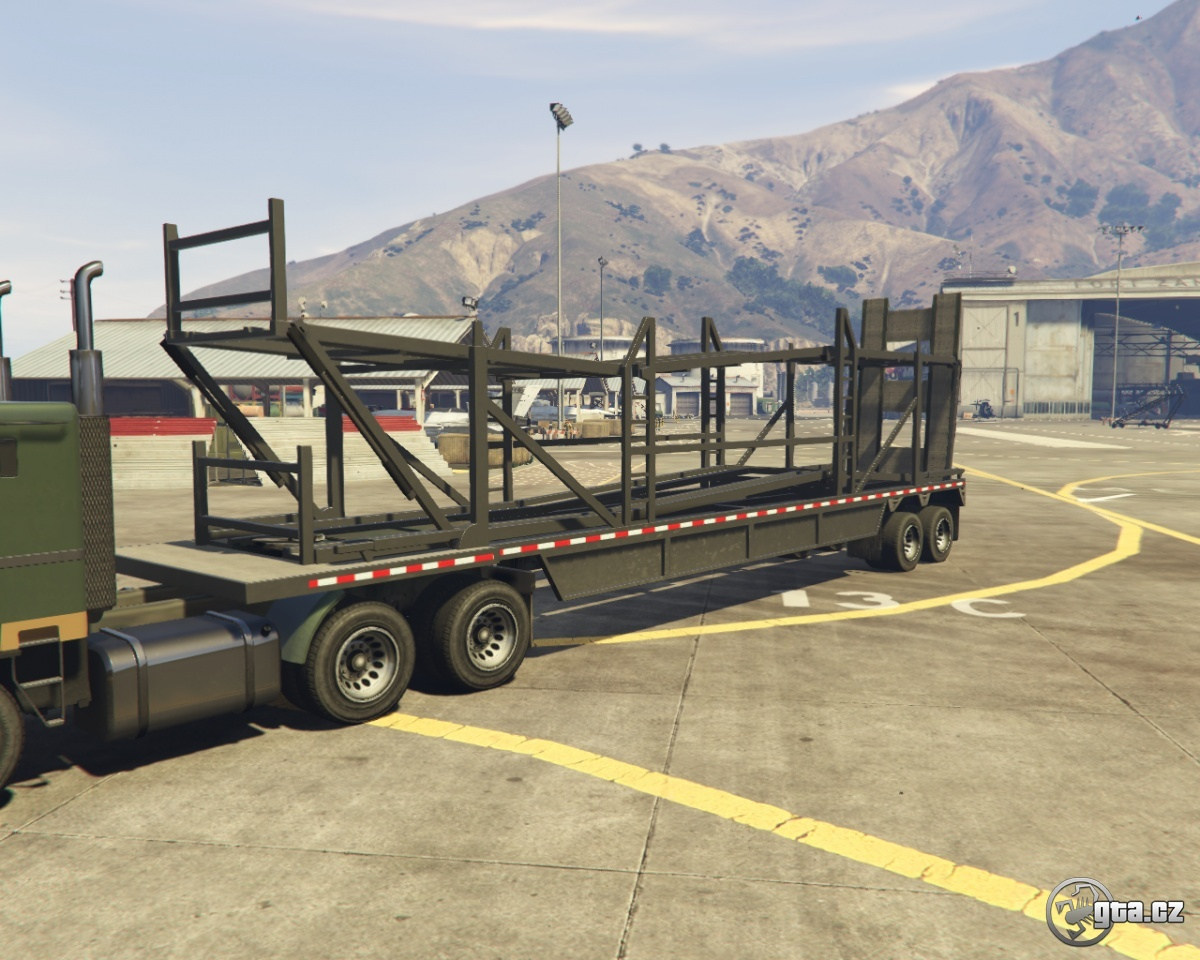 trailer car trailer empty gta v grand theft auto 5 on. Black Bedroom Furniture Sets. Home Design Ideas