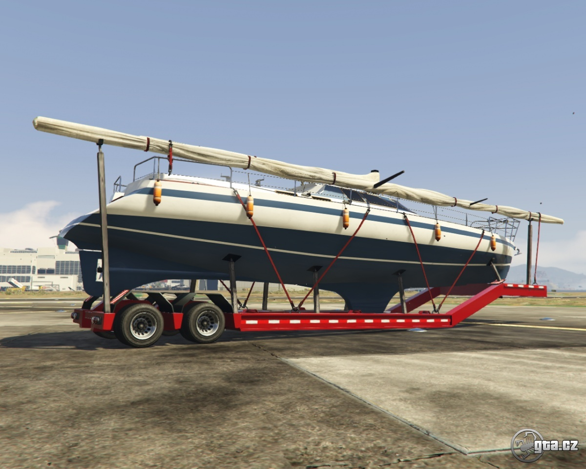 trailer big boat trailer gta v grand theft auto 5 on. Black Bedroom Furniture Sets. Home Design Ideas