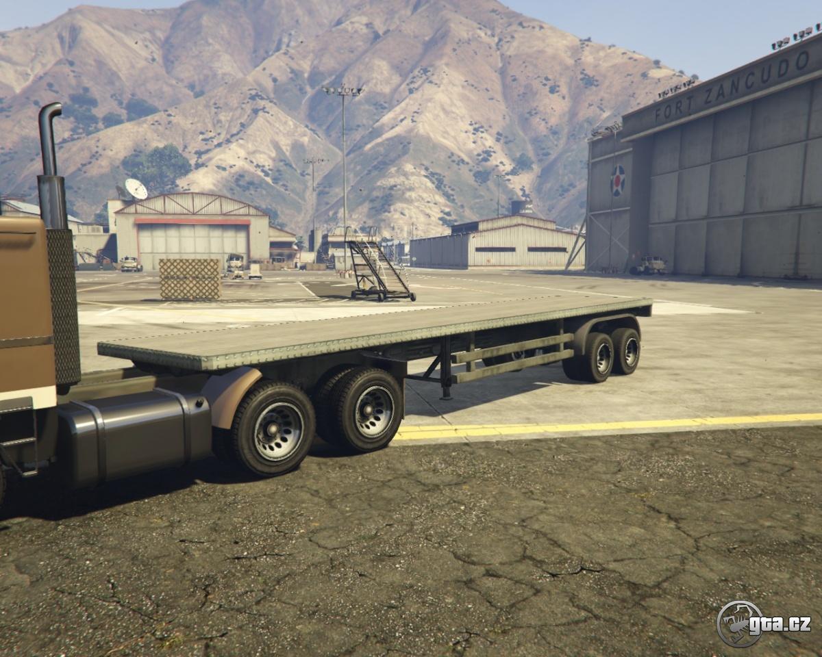 trailer flatbed trailer gta v grand theft auto 5 on. Black Bedroom Furniture Sets. Home Design Ideas